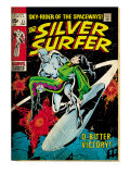 Marvel Comics Retro: Silver Surfer Comic Book Cover No.11, Bitter Victory (aged) Poster
