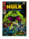 Marvel Comics Retro: The Incredible Hulk Comic Book Cover No.101, with the Sub-Mariner (aged) Poster