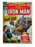 Marvel Comics Retro: The Invincible Iron Man Comic Book Cover 53, Black Widow Strikes Again (aged) Prints