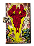 Marvel Comics Retro: Fantastic Four Comic Panel, Thing, Mr. Fantastic, Human Torch (aged) Pôsteres