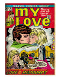 Marvel Comics Retro: My Love Comic Book Cover No.18, Kissing, Love on the Rebound (aged) Art