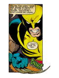Marvel Comics Retro: X-Men Comic Panel, Wolverine (aged) Print