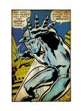 Marvel Comics Retro: Silver Surfer Comic Panel (aged) Kunstdrucke