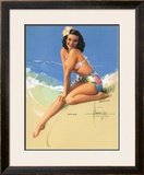 Sunny Skies Framed Giclee Print by Rolf Armstrong