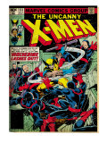 Marvel Comics Retro: The X-Men Comic Book Cover 133, Wolverine Lashes Out (aged) Print