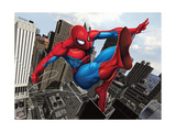 Spider-Man Swinging In the City Plakater