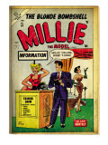 Marvel Comics Retro: Millie the Model Comic Book Cover 53, Fashion Show Information Booth (aged) Prints