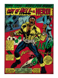 Marvel Comics Retro: Luke Cage, Hero for Hire Comic Panel, Screaming (aged) Art