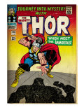 Marvel Comics Retro: The Mighty Thor Comic Book Cover No.125, Journey into Mystery (aged) Prints