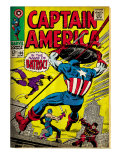 Marvel Comics Retro: Captain America Comic Book Cover No.105, Batroc (aged) Posters
