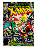 Marvel Comics Retro: The X-Men Comic Book Cover 105, Phoenix, Colossus, Storm, Firelord (aged) Prints