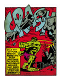Marvel Comics Retro: The Incredible Hulk Comic Panel, Rage and Crash (aged) Print