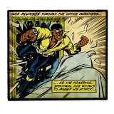 Marvel Comics Retro: Luke Cage, Hero for Hire Comic Panel (aged) Affiches