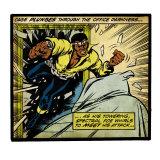 Marvel Comics Retro: Luke Cage, Hero for Hire Comic Panel (aged) Kunst
