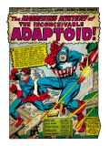 Marvel Comics Retro: Captain America Comic Panel, The Inconceivable Adaptoid! with Bucky (aged) Art