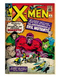 Marvel Comics Retro: The X-Men Comic Book Cover No.4, Scarlet Witch, Quicksilver, Toad(aged) Posters