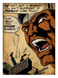 Marvel Comics Retro: Luke Cage, Hero for Hire Comic Panel (aged) Posters
