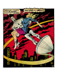 Marvel Comics Retro: Silver Surfer Comic Panel, Saving the girl (aged) Art