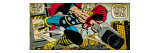 Marvel Comics Retro: Mighty Thor Comic Panel, Flying and Jumping (aged) Prints