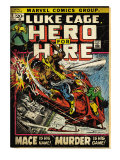 Marvel Comics Retro: Luke Cage, Hero for Hire Comic Book Cover 3, Mace in Helicopter (aged) Posters
