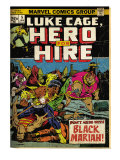 Marvel Comics Retro: Luke Cage, Hero for Hire Comic Book Cover 5, Black Mariah! (aged) Prints