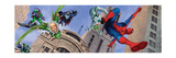 Spider-Man, Doctor Octopus, Green Goblin, Lizard, Electro and Morbius in the City Print