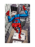 Spider-Man Above the City, Crawling on Web Posters