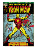 Marvel Comics Retro: The Invincible Iron Man Comic Book Cover 47, Breaking Through Chains (aged) Prints