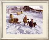 The Sledding Party Prints by Robert Duncan
