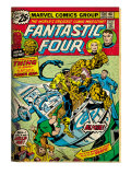 Marvel Comics Retro: Fantastic Four Family Comic Book Cover 170 (aged) Prints