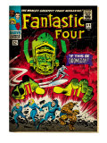 Marvel Comics Retro: Fantastic Four Family Comic Book Cover No.49, If This Be Doomsday! (aged) Prints