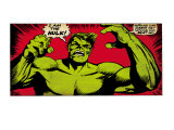 Marvel Comics Retro: The Incredible Hulk Comic Panel (aged) Lminas