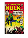 Marvel Comics Retro: The Incredible Hulk Comic Book Cover 3 (aged) Prints