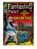 Marvel Comics Retro: Fantastic Four Family Comic Book Cover 48, The Coming of Galactus (aged) Print