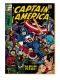 Marvel Comics Retro: Captain America Comic Book Cover 112, Album Issue! (aged) Print