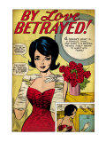 Marvel Comics Retro: By Love Betrayed Comic Panel, Evening Gown and Gloves, with Roses (aged) Print