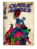 Marvel Comics Retro: Captain America Comic Book Cover 111, with Hydra and Bucky (aged) Prints