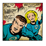 Marvel Comics Retro: Fantastic Four Comic Panel, Mr. Fantastic, Invisible Woman (aged) Prints