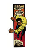 Marvel Comics Retro: Luke Cage, Hero for Hire Comic Panel, Charging (aged) Print