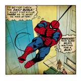 Marvel Comics Retro: The Amazing Spider-Man Comic Panel (aged) Posters