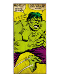 Marvel Comics Retro: The Incredible Hulk Comic Panel (aged) Print