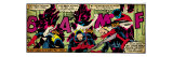 Marvel Comics Retro: X-Men Comic Panel, Nightcrawler (aged) Prints
