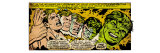 Marvel Comics Retro: The Incredible Hulk Comic Panel, Bruce Banner Transforming (aged) Pster