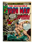Marvel Comics Retro: The Invincible Iron Man Comic Book Cover 120; The Sub-Mariner Strikes (aged) Print