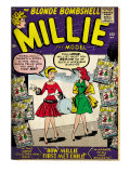 Marvel Comics Retro: Millie the Model Comic Book Cover No.100, How Millie First Met Chili! (aged) Art