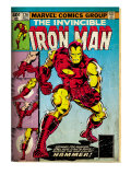 Marvel Comics Retro: The Invincible Iron Man Comic Book Cover 126, Suiting Up for Battle (aged) Prints