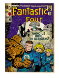 Marvel Comics Retro: Fantastic Four Family Comic Book Cover No.45 (aged) Prints