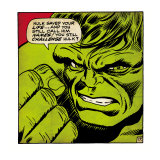 Marvel Comics Retro: The Incredible Hulk Comic Panel (aged) Pósters