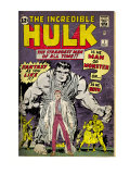 Marvel Comics Retro: The Incredible Hulk Comic Book Cover 1, with Bruce Banner (aged) Poster