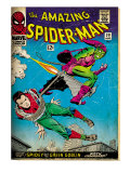 Marvel Comics Retro: The Amazing Spider-Man Comic Book Cover No.39, Green Goblin (aged) Posters
